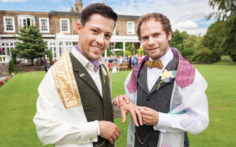 gay jewish wedding unicorn