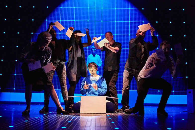 """the curious incident of the dog in the night time National theatre's production of """"the curious incident of the dog in the night- time"""" at the paramount stuns with inventive design and."""