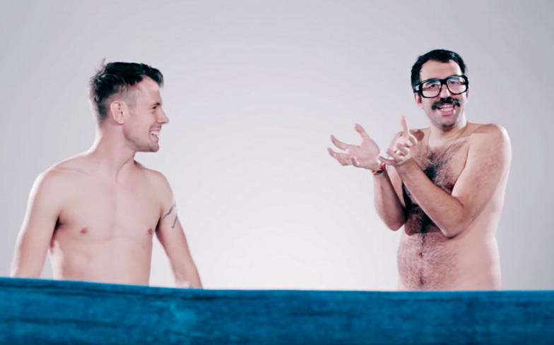 """""""I never thought I'd be as happy to see your d**k!"""" – Friends see each other naked for the first time"""