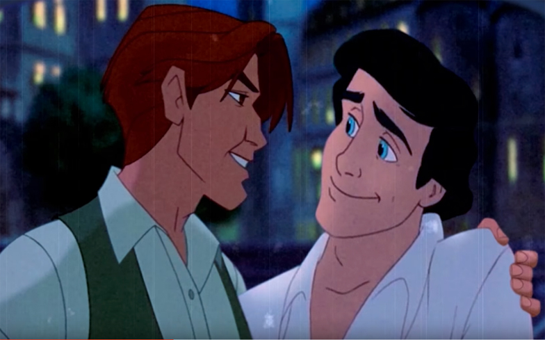 disney classics become gay romance in new mashup video