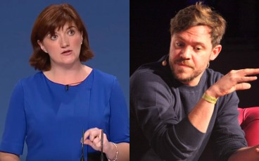 Nicky Morgan and Will Young