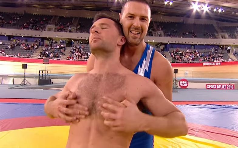Gay guys wrestling