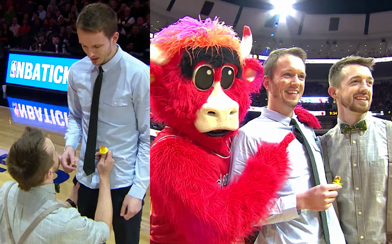 Same Sex Marriage Proposal At Chicago Bulls Game Makes Nba History