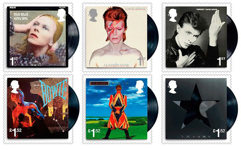 David Bowie Immortalized with His Own Postage Stamps