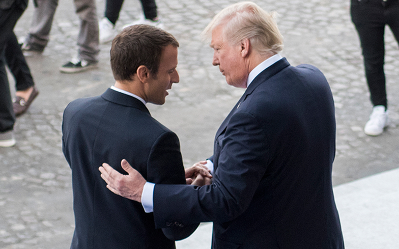 French president Macron 'loves holding my hand'
