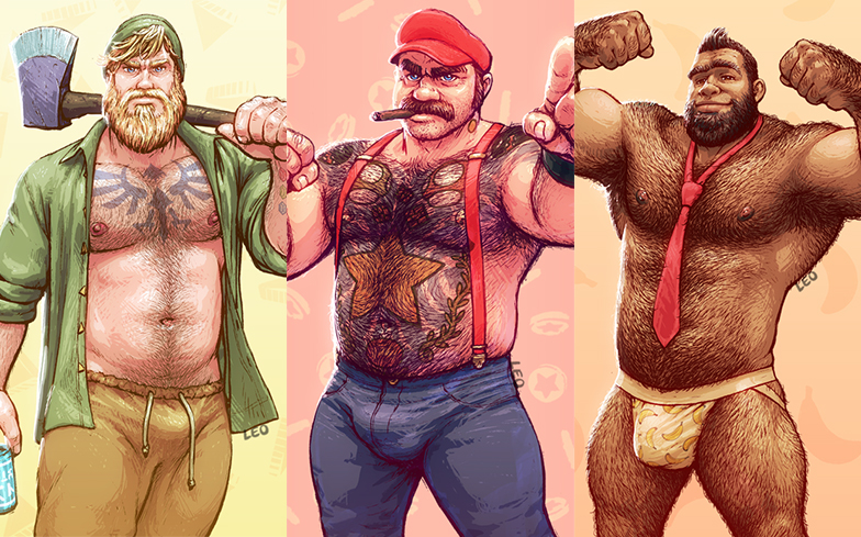 This artist reimagined Nintendo characters as hot daddies ...