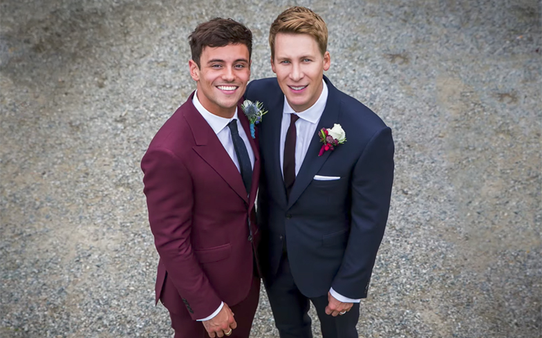 Tom Daley shares never before seen photos from wedding to ...