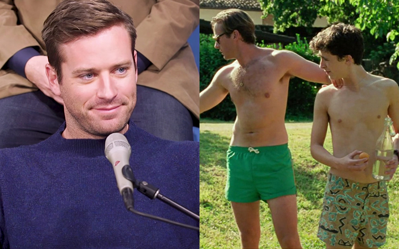 Armie Hammers manhood had to be digitally edited out from