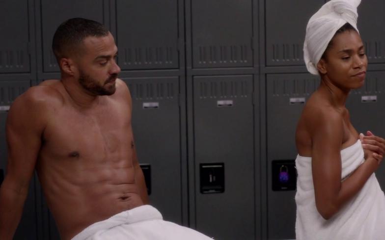 - Greys Anatomy Shower Scene - Miranda Derek Burke and