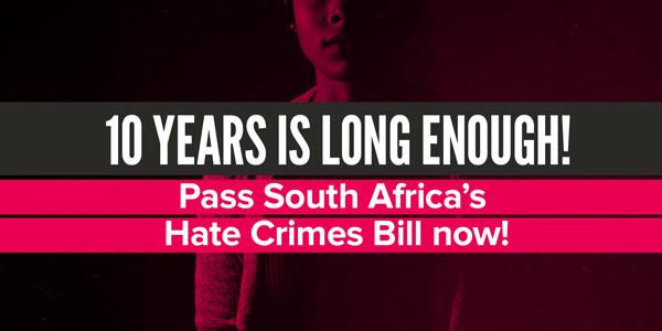 10 Years And Still No Hate Crimes Law In South Africa To