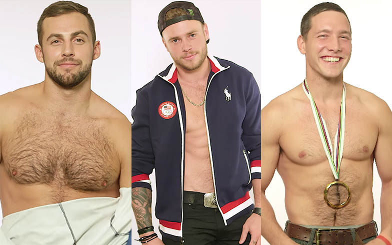 Winter Olympics hunks strip off and share their best pick-up lines