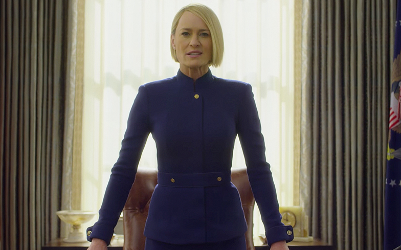 'House of Cards' new trailer hails Claire Underwood as chief