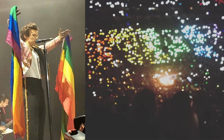 Watch Harry Styles Audience Turn Into A Massive Pride Flag At His London Show