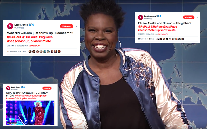 SNL's Leslie Jones is watching Drag Race for the first time