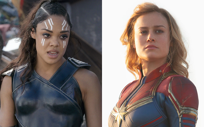 It looks like Brie Larson and Tessa Thompson are down for a Marvel romance