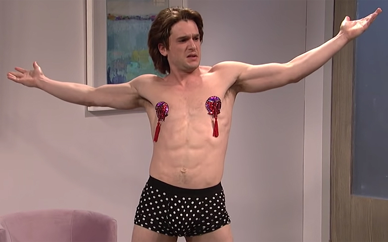 Kit Harington did a drag burlesque performance on Saturday Night Live
