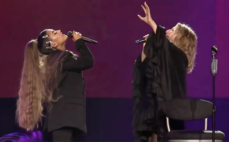 Ariana Grande and Barbra Streisand slay surprise duet of No